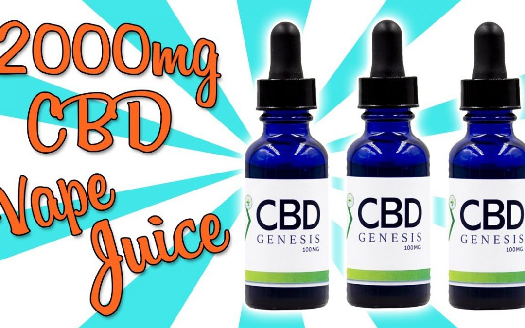 TRYING 2000MG CBD VAPE JUICE!!
